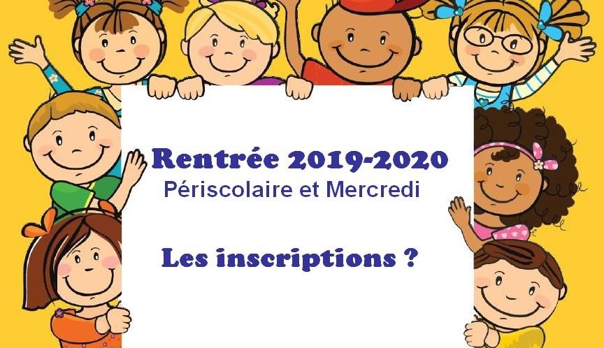 Inscription périscolaire 2019-2020